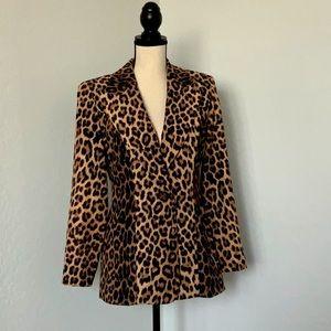 Vintage Joseph Ribkoff Leopard Print Jacket sz 4